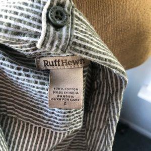 Ruff Hewn Tops - 🍁Ruff Hewn Blue/White Seersucker ButtonDown Shirt